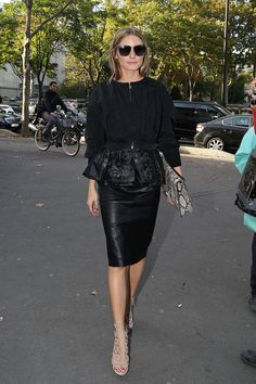 Olivia's look for Maison Martin Margiela and Andrew Gn.