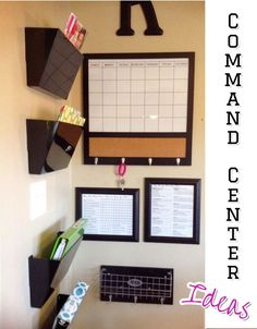 Commands centers • DIY family command centers. Great ideas to organize your family activities on your kitchen wall. Family command centers ideas for home organization - keep up with your kids life. #gettingorganized