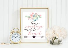 Have Courage and Be Kind Disney Cinderella Baby Girl by GrayFrames