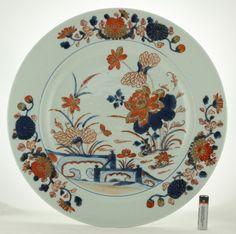 Chinese Porcelain Large Imari Dish  Kangxi - Yongzheng. pre 1800.