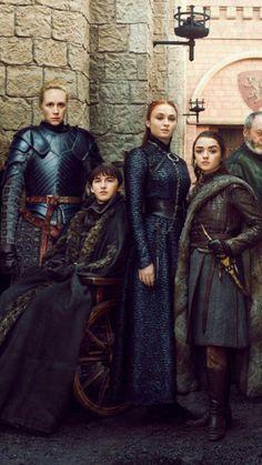 Game of Thrones Season 8 final Bran Sansa Arya Stark Brienne of Tarth Game of Thrones Staffel 8 Finale Bran Sansa Arya Stark Brienne von Tarth Game Of Thrones Arya, Game Of Thrones Poster, Game Of Thrones Costumes, Game Of Thrones Series, Game Of Thrones Dragons, Game Of Thrones Funny, Arya Stark, Brienne Von Tarth, Lady Brienne