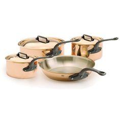 light copper pots and pans