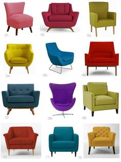 Cool Hunting // The Bright Accent Chair > The Effortless Chic Living Room Sofa Design, Accent Chairs For Living Room, Living Room Decor, Dinning Chairs, Lounge Chairs, Home Decor Furniture, Furniture Design, Plywood Furniture, Modern Furniture