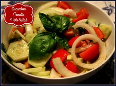 Sweet Tea and Cornbread: Cucumber Tomato Herb Salad!