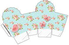 Forma cupcake Jardim Encantado Vintage Floral - Kit Completo com molduras para convites, rótulos para guloseimas, lembrancinhas e imagens!