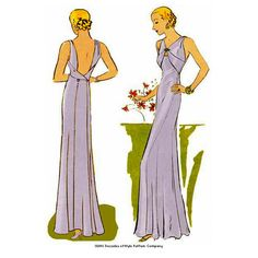 1930s Evening Gown from the very end of the Weimar Era - #3301 – Decades of Style Pattern Company