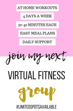 Join My Virtual Fitness Group | Get #AtHomeWorkouts and #EasyCleanEatingRecipes | Get in Shape Fast with ##AtHomeWorkoutsForWomen and #CleanEatingRecipes | Get in Shape For Wedding and #LoseWeightInAMonth with #30MinuteWorkouts