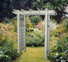 The Plantation Tan Vinyl Arbor by In the Garden and More. $729.95. Price includes shipping. Requires with little to no maintenance. Perfect garden entrance or accent. Includes stainless steel fasteners. Made of quality vinyl. The Plantation Tan Vinyl Arbor, with its elegant sophistication and clean lines, offers a more modern welcoming appeal to any garden setting. Unfortunately we did not have a picture of this arbor in tan at the time we published this item, but a small pictur...