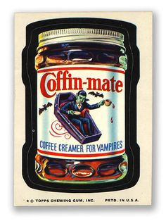 Topps Wacky Packages  10th Series 1974 COFFIN-MATE