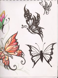 Butterfly Tattoo Designs 2 by ~kittyshi202 on deviantART