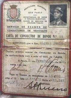 1936-Carta de Condutor de Bonde cedida a Miguel Domingos, 03 de fevereiro de 1936.