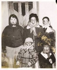 Creepy old halloween faces .....especially that little guy on the right