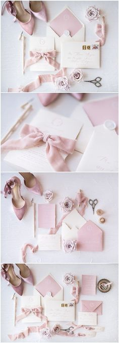 elegant calligraphy pink wedding invitations #pinkwedding #weddingideas #weddingcards / http://www.deerpearlflowers.com/wedding-invitations-from-4lovepolkadots/