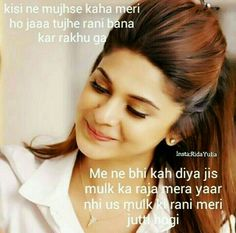 Pin by Anushree on Jennifer Winget Maya Quotes, Hindi Quotes, Girl Quotes, Qoutes, Love Quates, Jennifer Winget Beyhadh, Love Breakup, Best Friend Drawings, Attitude Shayari