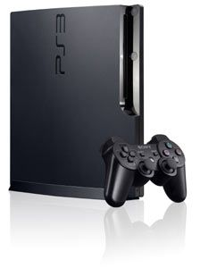 An isolated view of the PS3 320 GB console, with included DualShock 3 controller Your #1 Source for Video Games, Consoles & Accessories!