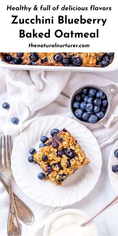 This Zucchini Blueberry Baked Oatmeal is the perfect weekend breakfast or make-ahead meal that makes for dreamy leftovers. Full of delicious flavors, this healthy baked oatmeal recipe will become a breakfast staple. #blueberryoatmeal #zucchinioatmeal #breakfast #veggieloaded #healthy @naturalnurturer | thenaturalnurturer.com Healthy Vegan Breakfast, Clean Eating Breakfast, Savory Breakfast, Healthy Baking, Healthy Zucchini, Healthy Kids, Baked Oatmeal Recipes, Porridge Recipes, Dairy Free Breakfasts