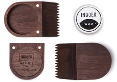 Indoek Wax Kit - An artful case and comb for carrying a surfing essential