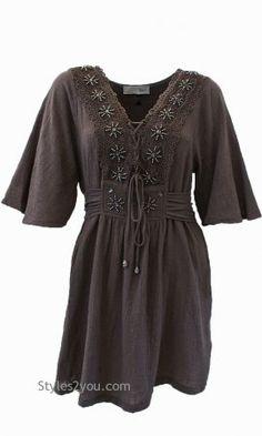 Fern Shirt Dress In Ecru