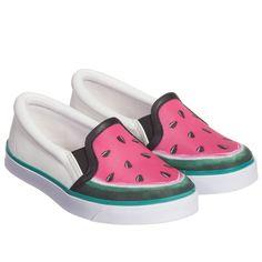 Unisex 'Kingston Watermelon' Slip-On Trainer, Sophia Webster, Girl