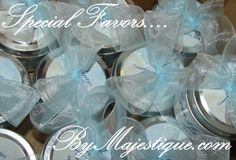 2oz. Travel Tin Hand-poured Scented Soy Wax Candles- Wedding Favors! ByMajestique.com !!!