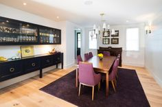 transitional dining room by Von Fitz Design My 2 buffets with hutch centered or add headboard?