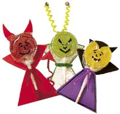 disguise a lollipop in a vampire costume as trick-or-treat handouts or party favors.