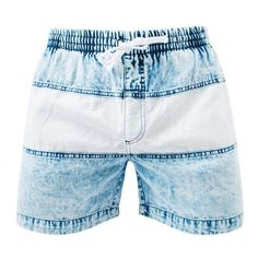 Rock n' Roll and denim. These drawstring shorts are made from a super comfylightweight denim that we used an acid bath on to give its faded look and soft textu