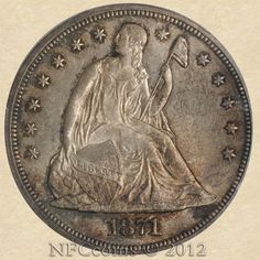 1871 Seated Liberty Dollar MS65 PCGS, obverse