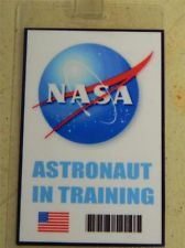 HALLOWEEN COSTUME MOVIE PROP - ID/Security Badges (NASA Astronaut in training),