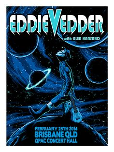 Misc. Eddie Vedder Gig Posters on Behance