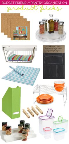 Must haves for the organized pantry!