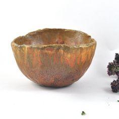 Ceramic Bowl Rustic Decor Handmade Pottery by DeeDeeDeesigns