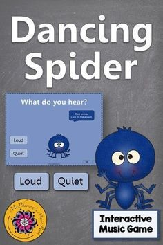 Fun interactive music game reinforcing aurally identifying dynamics (loud and quiet)! The dancing spider will be a hit with your elementary music students.