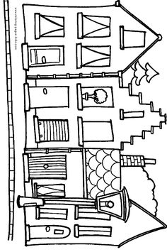 Free House Coloring Pages For Kids | Art Education | Pinterest ...