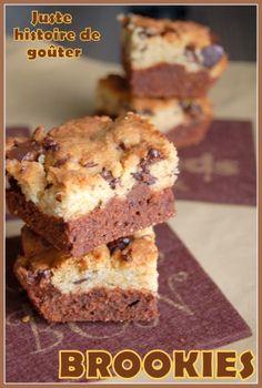 """Ca y est le fameux """"BROOKIES"""" 100% USA est arrivé à la maison, une tuerie qui se compose d'une préparation de brownie avec une préparation de cookie , une sorte de 2 en 1, d'où son nom. Inutile de vous préciser que ce n'est pas le plus léger des gâteaux...non,..."""