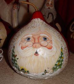 Gourd Santa ornament                                                                                                                                                      More