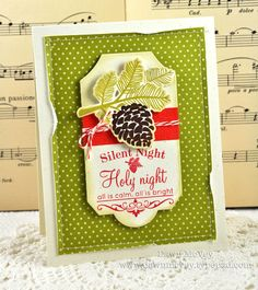 Silent Night Card by Dawn McVey for Papertrey Ink (October 2012)