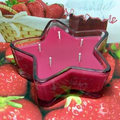 Strawberry Jam PURE SOY Star Container Candle 11 oz