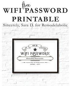 Free Editable Guest Wifi Printable