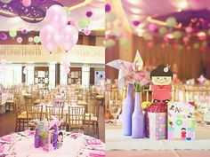 Alexa's It's a Small World Themed party – Centerpiece