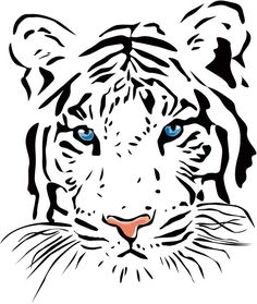 Cat Tattoo Meaning - Tattoos With Meaning Tiger Illustration, Drawings With Meaning, Tattoos With Meaning, Easy Tiger Drawing, Tiger Pattern, Muster Tattoos, Tiger Painting, Image Chat, Cat Tattoo