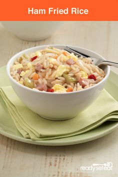 You'll love this delicious recipe! Ham Fried Rice in only 30 minutes!