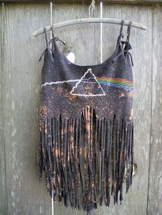Pink Floyd diy fringe tank by AToutLeMonde on Etsy
