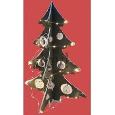 1000/0072 Houten deco kerstboom 6211/0001 sneeuwwatten