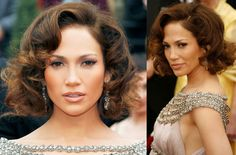 Short wedding hairstyles from the red carpet- Jennifer Lopez