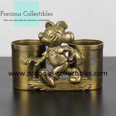 Brass pen container of Mickey Mouse. For more information check out the extended gallery at our collectibles webshop. Favorite Cartoon Character, Looney Tunes, Cartoon Characters, Walt Disney, Mickey Mouse, Container, Brass, Gallery, Check