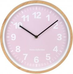 """Pastelowy zegar ścienny """"Peak"""" - różowy"""