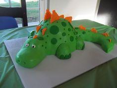 Dinosaur cake I made for my sons 2nd birthday
