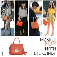 Jessica Alba, Sophia Bush, Katie Holmes and Leighton Meester all seem to favour a pop of Tangerine to complement their outfits! If you were looking to add a little colour to yours just like these stylish divas did, head to http://bit.ly/13A8BiC