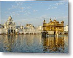 India, Penjab, Amritsar, Golden Temple Metal Print by Bruno Morandi